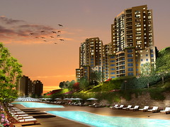 havuz_nish_final_0009_gece (Nish Adalar) Tags: modern ev daire manzara yeil nish havuz adalar konut inaat lks zyazc