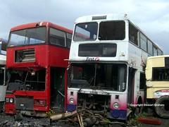 Classic 'deckers (MCW1987) Tags: yards bus scrap barnsley