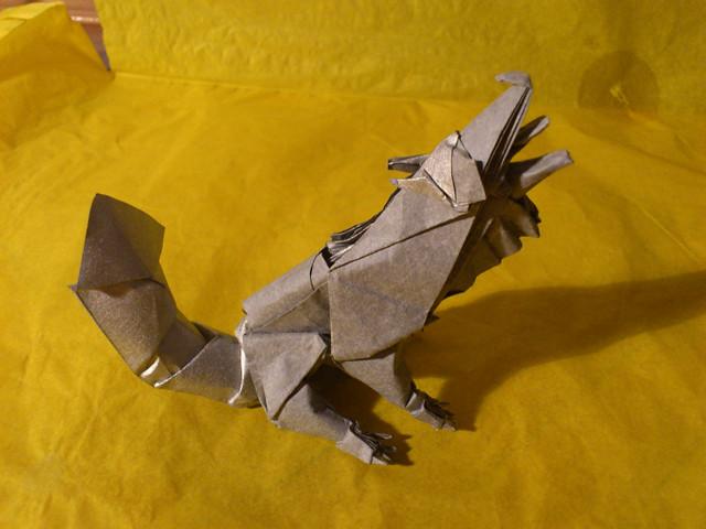 Grey Wolf By Quentin Trollip Last Bosnian Jedi Tags Art Paper Origami