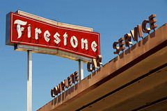 Firestone Tires (avilon_music) Tags: california signs cars car sign shop vintage la losangeles neon olympus signage neonsign firestone southerncalifornia labrea neonsigns tirestore oldsigns vintagesigns vintageneon firestonetires olympuse510 markpeacockphotography avilonmusic firestonetirecenter