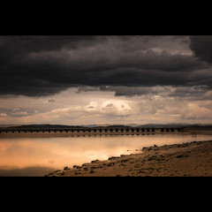 Arnside (Mr sAg) Tags: sky water clouds reflections landscape interestingness interesting estuary viaduct explore shore cumbria sag arnside simonharrison mrsag notmyusualbag