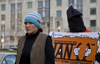 Witness Against Torture: Chantal Leads a March