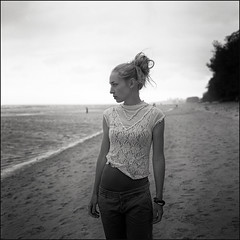 (Kenneth McNeil) Tags: africa portrait bw 6x6 film beach water girl female analog zeiss mediumformat square grey alone peace kodak tmax empty profile hasselblad 400 squareformat carl serenity medium format isolation serene tmax400 youngwoman emptiness kodaktmax400 mozambique maputo upperbody planar 80mm carlzeiss costadosol 503cw planar80mm hasselblad503cw kennethmcneil