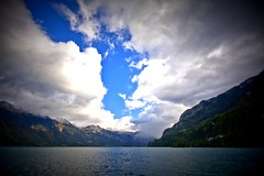 Brienzersee (justfordream) Tags: sky lake mountains alps water clouds schweiz switzerland see wasser suisse himmel wolken berge bern alpen interlaken brienzer