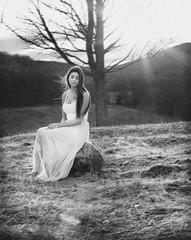 Seven (cscalzphotography) Tags: pink trees sunset portrait brown sun tree fashion hair florence long heaven bokeh alice ghost courtney machine skirt expressive emotive sheer sunflare scalzo cscalzphotography cscalz