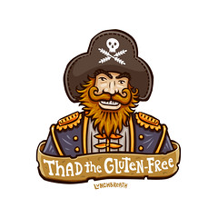 Unsuccessful Pirate No.3: Thad the Gluten Free (lunchbreath) Tags: pirates cartoons disappointment celiac lunchbreath thadtheglutenfree weightconsciouscarbophobe