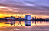 Leith docks sunset (elementalPaul) Tags: sunset orange catchycolors scotland dock purple pentax tripod cranes leith hdr flourmill sigma1020mm photomatixpro 5xp k10d pentaxk10d wellservicer