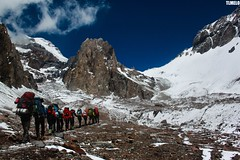 """Into the Aconcagua World"" - Aconcagua Mount - Argentina (TLMELO) Tags: highestpointamerica highest aconcaguamount aconcagua southamerica amricadosul point mount trekking argentina argentino sky cu clouds caminhada heavy carregadores hiking climbing hike backpack backpacking keepwalking justdoit impossibleisnothing walking walk ice glacier glaciar gelo snow neve summit cume landscape nature natureza paisagem trilha mountain montanha glaciardospolacos falsopolacos polishglacier fakepolish andes climb mountaineer"