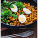 boiled eggs with curried chickpeas