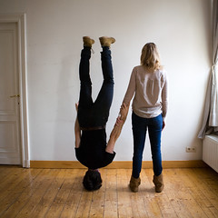 Please trust me. (STCM) Tags: friends boyfriend me up by stand hands girlfriend arms head walk faith trust balance morris hold partners shut caulton stcm