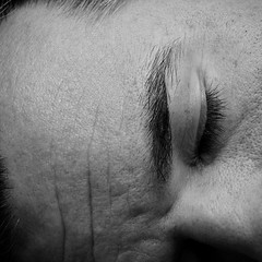 Sleepy (Jeremy Stockwell) Tags: bw selfportrait macro eye me square nikon closed playingdead sleep sleepy goodnight sevendwarfs idiom d40 jeremystockwell selfportraitchallenge jeremystockwellpix beatlessongs nikond40 sleeplikealog flashback2011