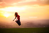 Feeling Happy - Jump #54 of #100 (Olivia L'Estrange-Bell) Tags: jump jumps goldenhour englishcountryside oliviabell oliviabellphotography 100jumps tbsart