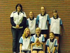 2009 Mini  1 - Tr. Ina Wesselink - Jaël, Kirsten, Anniek, Daphne, Melissa, Verena