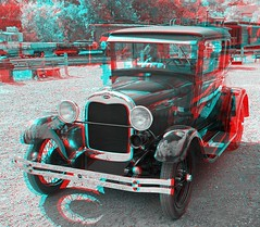 Colorado Railroad Museum (Anaglyph 3D) (patrick.swinnea) Tags: railroad ford museum train stereoscopic 3d colorado anaglyph rockymountains