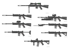 new albedo MK2 rifles (timberfox15) Tags: rifles scifi guns weapons pmg