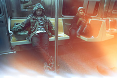 New York Metro (Emmanuel Rosario) Tags: life newyorkcity girls urban inspiration cute film boys fashion youth 35mm vintage subway fun happy cool metro relaxing dirty retro lightleak indie adventures analogphotography urbanfashion indielife emmanuelrosario yougojeberg