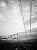 Melancholy (Jorge Daniel Segura - On/Off) Tags: sky green art lines clouds landscape wind cellphone tint monochromatic pylon surrealistic magicrealism greentint