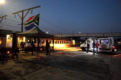 Shongololo Express - Train by night on platform