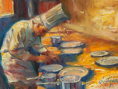 Preparations (Exclusive Collections Gallery) Tags: food art artist wine sandiego originalart fineart artshow culinary oilpainting foodie chefs christopherm ecgallery exclusivecollections painterofchefs