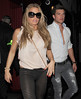 Katie Price aka Jordan leaving Balans restaurant in Soho, with her ex boyfriend Leandro Penna just after 4am. As the pair made their way to the car, Leandro held Jordan by the waist. London, England