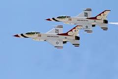 Thunderbirds 1 and 3 (Shelle Ette) Tags: airplane aviation newhampshire formation airshow f16 thunderbird usairforce tbird pease ltcol shellette shelleettelson