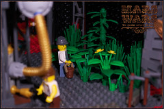 A garden for breathing (captainsmog) Tags: red mars robot war rivets tank lego space walker dome copper british minifigs gears vignette base troops diorama mechs automaton steampunk mechas moc prussian