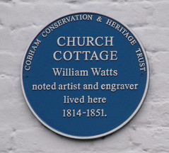 Photo of William Watts blue plaque