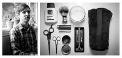 pride & groom // cassady lillstrom (eleanor lonardo) Tags: seattle portrait man project beard diptych towel grooming shaving lighter mustache scissor shavingbrush pridegroom mustachewax cassadylillstrom doppkitt