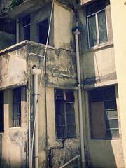 ruin (Fion N.) Tags: life old city urban building abandoned architecture hongkong living streetphotography    redevelopment sheungwan   gf1  tonglau   wingleestreet   panasoniclumixgf1 echoesoftherainbow