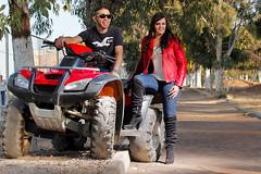 Sesin en Motocicletas. (Alejandro Coronado / Alejo!) Tags: portrait face fashion mexico trabajo retrato moda jalisco mexican moto motocicleta tradicion degollado glamur cuatrimoto