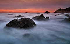 Starfish in the Swirl (Matt Granz Photography) Tags: ocean california sunset motion blur beach water clouds nikon marine rocks long exposure pacific starfish earth alien tokina marincounty aquatic muir 1224mm d90 mattgranz