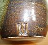 TENMOKU  STUDIO POTTERY VASE MARKED H (Marcusborra) Tags: art studio design pottery earthenware tenmoku