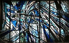 Vitrail dans le Mtro Chatelet Paris (Oeil du Nez) Tags: art canon noir bleu vitrail blanc urbain vitraux arturbain mtroparisien vitrailmulticolore dcorvitr