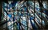 Vitrail dans le Métro Chatelet Paris (Oeil du Néez) Tags: art canon noir bleu vitrail blanc urbain vitraux arturbain métroparisien vitrailmulticolore décorvitré