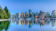 The City And The Park (westrock-bob) Tags: ocean park longexposure blue trees summer copyright canada water skyline vancouver canon lights bc britishcolumbia burrardinlet stanleypark 6d canon6d canoneos6d bobcuthillphotographygmailcom bobcuthill