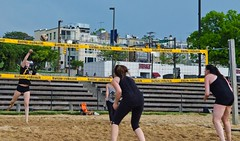2016-05-02 BBV Women's Doubles (48) (cmfgu) Tags: girls woman game net beach sports ball court md sand women outdoor maryland baltimore volleyball athlete league innerharbor doubles twos bbv 2s rashfield