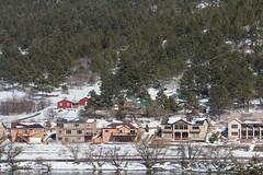 Houses at Palmer Lake (Michael Karlik) Tags: trees winter mountain lake snow colorado hill palmer front evergreen range