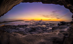 5D3L8572 Rock Crevis View (muvro) Tags: colour sunrise canon wave fisheye beaches northernbeaches curlcurl club16