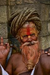 Hindu guru in Pashupatinat, Kathmandu (Antonio Cinotti ) Tags: nepal nikon asia hindu guru indu d7100 pashupatinat nikon1685 nikond7100 nepalroutes pashupatinattemple