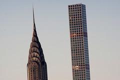 The Sublime and the Ridiculous (Chris Protopapas) Tags: newyorkcity architecture skyscraper twins pentax manhattan sony spire telephoto ridiculous artdeco chrysler gotham sublime