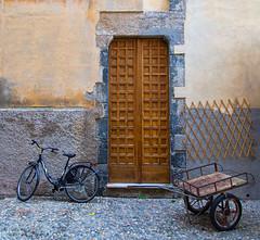 Monterosso-Door (cheryl strahl) Tags: door italy bicycle europe rustic medieval cinqueterre cart monterosso liguriansea monterossoalmare italianriveria