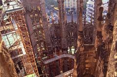 Sagrada Familia (ClydeHouse) Tags: barcelona 2002 slide scan gaudi sagradafamilia antonigaudi bascillica byandrew
