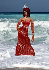 redGownSea (SoakinJo) Tags: wetlook wetclothes wetdress