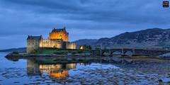 Eilean Donan Blues (Tobias Neubert Photography) Tags: travel reflection castle evening abend scotland europa europe dusk bluehour dmmerung spiegelung burg reise schottland dorie abenddmmerung 2016 eileandonancastle
