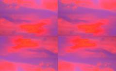 After a Summer Thunderstorm 3 By Sherrie D. Larch (sherrielarch) Tags: pink clouds purple summertime digitalphotography hotpink digitallyaltered malinoregon sherrielarch brightpinkandpurple