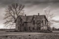 Abandoned (hey its k) Tags: ca blackandwhite ontario canada abandonedhouse palmyra muirkirk canon6d img0490e