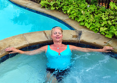 A Relaxing Moment (Jeff Clow) Tags: woman pool lady dallas texas leisure relaxation relaxed spa enjoyment middleaged