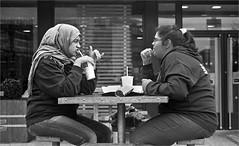 Macdonalds Restaurant, Aspen Way, East London. (Tom Hurley.) Tags: canonf1 fujiacross100 ilfordid11 tomhurley filmdatabase macdonaldsrestaurant