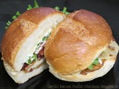 Garlic bacon Swiss chicken sandwich