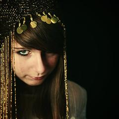 Regarde les hommes tomber (Christine Lebrasseur) Tags: wedding portrait people brown france art 6x6 canon gold dress egyptian teenager fr onblack headgear gironde 500x500 léane ltytrx5 ltytr1 saintloubes allrightsreservedchristinelebrasseur